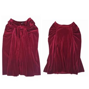 Paola Frani Falda velvet full skirt red size 8